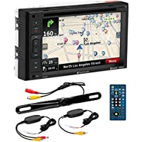 PLANET AUDIO PNV9645WRC Navigation, Bluetooth, Double Din, 6.2 Touch Screen, DVD/CD/MP3 AM/FM Receiver Wireless Remote, Wireless License Plate Backup Camera Included