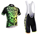 Dianno NonStop club 3.0'' Breathable Cycling Short Sleeve Jersey And Bib Short .Set clothing. 18 Styles for choose. (BT315, Medium)