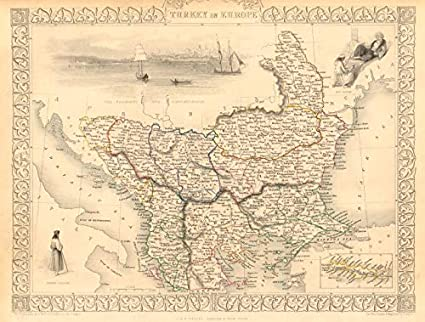 Amazon Com Turkey In Europe Constantinople View Rumilia Balkans