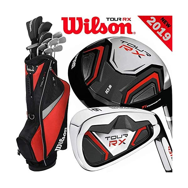Wilson-TOUR-RX-MENS-2019-COMPLETE-GOLF-SET-GOLF-STAND-BAG