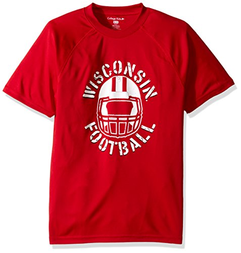 NCAA Wisconsin Badgers Youth Short Sleeve Breathable Impact - Wisconsin Badger Tshirts Size 10