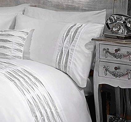 Blanc Simple Belle Rapport Amie Parure de lit avec taies doreiller Assorties