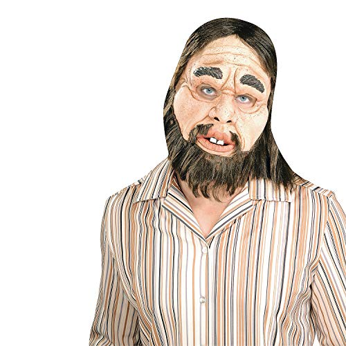 Fun Express - Caveman Latex Mask for Halloween - Apparel Accessories - Costume Accessories - Masks - Halloween - 1 Piece