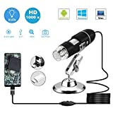 USB Microscope,1000 x High Resolution Digital Mini Microscope Camera with OTG Adapter