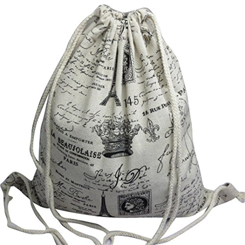 Ecosin Fashion Backpacks Drawstring Backpack