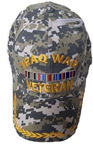 Iraq War Veteran Camo Style Embroidered Baseball Cap Ball Hat Iraqi ()