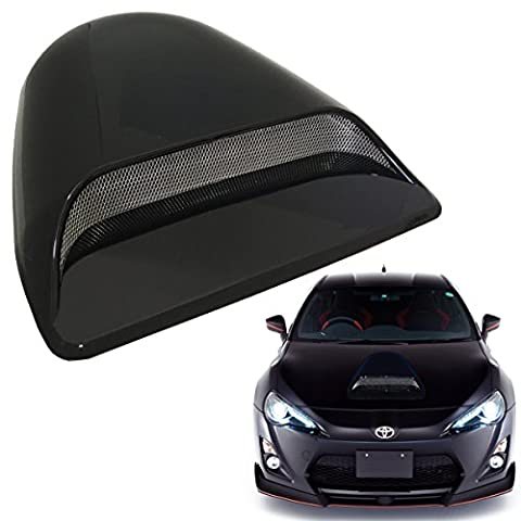 Universal JDM Style Decorative Hood Scoop Smoke Black Sport Racing Air Flow Intake Vent Cover Auto US (1996 Honda Civic Hood Cover)