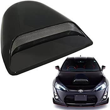 Mega Racer Universal JDM Style Decorative Hood Scoop Smoke Black Air Flow Intake Vent Cover Auto Car Truck Sport Racing USA Seller