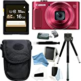 Canon PowerShot SX620 HS Digital Camera (Red) with 16GB Deluxe DigitalAndMore Accessory Bundle