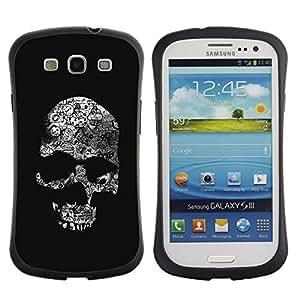 Suave TPU GEL Carcasa Funda Silicona Blando Estuche Caso de protección (para) Samsung Galaxy S3 I9300 / CECELL Phone case / / Skull Dark Black Death Shadow Bones /