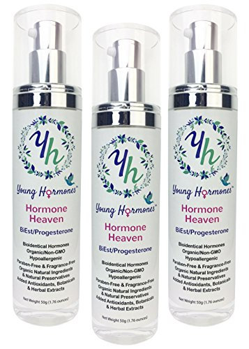 Hormone Heaven (3-Pack) - Bioidentical Estriol, Estradiol and Progesterone in an Organic Cream