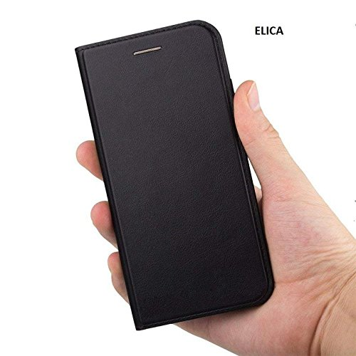 ELICA Professional Leather Flip Cover with Magnetic Closure for Samsung Galaxy C9 Pro  Black  Cases   Covers