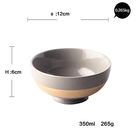 Cuenco pequeño de cerámica para microondas y sopa, cuenco ...