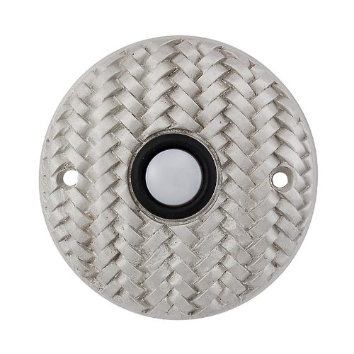 Vicenza Designs D4010 Cestino Round Style Doorbell Satin Nickel