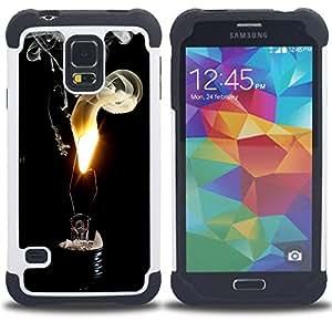 - LIGHT BULB FLAME SMOKE - - Doble capa caja de la armadura Defender FOR Samsung Galaxy S5 I9600 G9009 G9008V RetroCandy