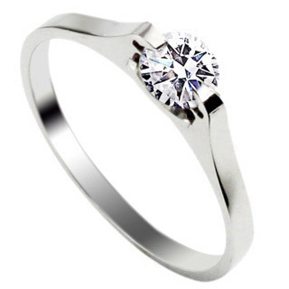 VALYRIA Stainless Steel CZ Women's Promise Engagement Wedding Ring WB-JULY21