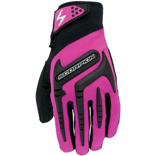 Scorpion Skrub Women's Textile Sports Bike Racing Motorcycle Gloves - Pink/X-Large