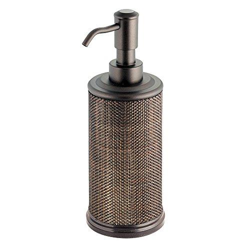 InterDesign Twillo Liquid Soap & Lotion Dispenser Pump for Kitchen or Bathroom Countertops, Bronze (Decorative Dish Copper Soap)