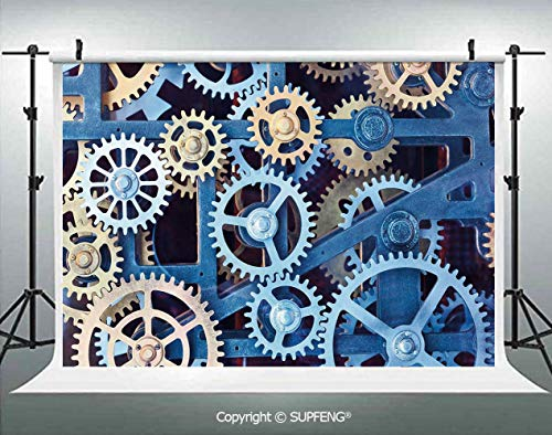 Photography Background A Set of Clock Gears Steel