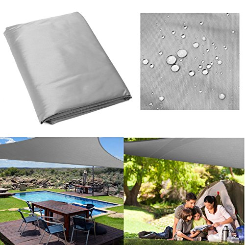 Laliva Tent & Sunshade - 5x5x5M Triangle Tent Sunshade Sail Cloth Shadecloth Outdoor Canopy Awning 280gsm