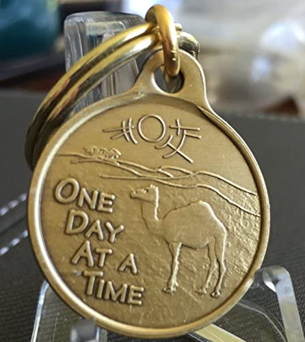 Camel Poem One Day At A Time Key Chain 2.5cm AA Alcoholics Anonymous