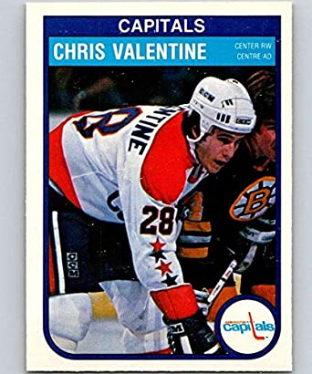 Amazon.com  1982-83 O-Pee-Chee Hockey  373 Chris Valentine RC Rookie Washington  Capitals Official NHL OPC Trading Card (stock photo used)  Collectibles ... 74994e730