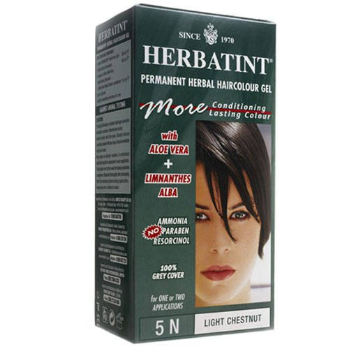 (Herbatint Herbal Haircolor Permanent Gel 5N Light Chestnut 4.56)