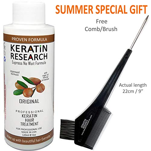 - Keratin Blowout Hair Treatment Complex Brazilian 120ml Professional Results Straightens and Smooths Hair Queratina Keratina Brasilera Tratamiento