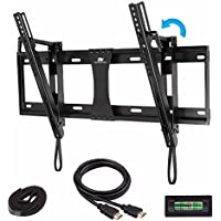 Mounting Dream MD2165-LK Tilt TV Wall Mount Bracket for most 42-70 Inch TV with VESA up to 600X400mm, Loading Capacity 132 lbs, Including 6 ft HDMI Cable and Magnetic Bubble Level
