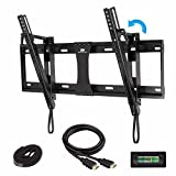 42 inch wall mount fireplace - Mounting Dream MD2165-LK Tilt TV Wall Mount Bracket for most 42-70 Inch TV with VESA up to 600X400mm, Loading Capacity 132 lbs, Including 6 ft HDMI Cable and Magnetic Bubble Level