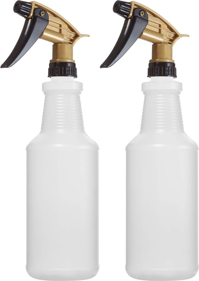 Professional Chemical Resistant Heavy Duty Bottles 32 oz, for All Acid Based Cleaning Solutions, N11 Acid Resistant Fully Adjustable Sprayer, Pack of 2 Bar5F