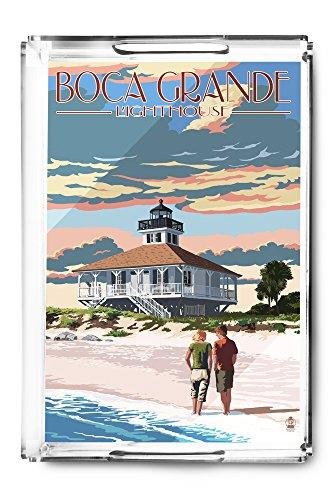 Boca Grande, Florida - Lighthouse (Acrylic Serving Tray) (Boca Grande Lighthouse)