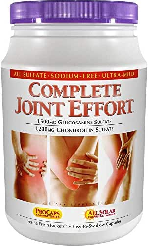 Andrew Lessman Complete Joint Effort 60 Packets – 1500 mg Glucosamine and 1200 mg Chondroitin per Packet, 100% Sulfate Form, Research Established Ingredients and Levels for Support of Healthy Joints