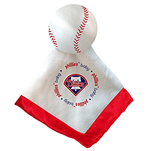 Philadelphia Phillies Red Trim Baby Fanatic Security Bear Blanket - 14