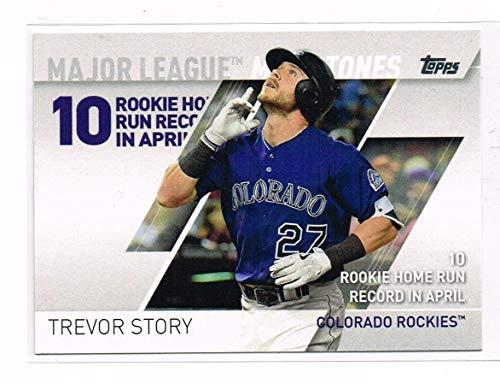 2017 - Topps - Series Two 2 - Trevor Story - MLM-3 - Major League Milestones - Colorado Rockies - Baseball Card