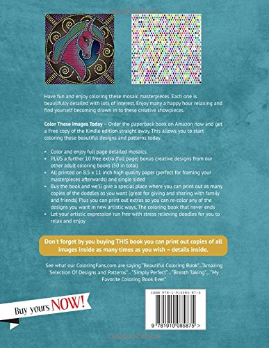 Amazon Mosaic Coloring Books For Adults My Magical Masterpieces Volume 1 9781910085875 Grace Sure