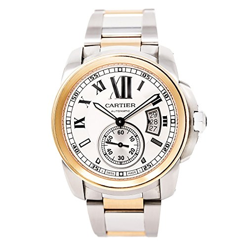 Cartier-Calibre-automatic-self-wind-mens-Watch-W7100036-Certified-Pre-owned
