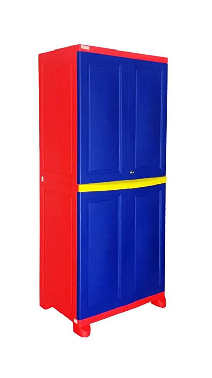 d17c6e13e79 Nilkamal Freedom Big Wardrobe (Blue And Red)  Amazon.in  Home   Kitchen