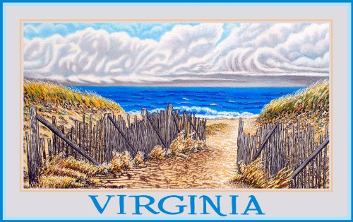 Northwest Art Mall Virginia Beach Sand Dunes by David Linton Wall Decor, 11-Inch by - Beach Virginia Malls