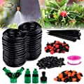 """Philonext Drip Irrigation, Garden Irrigation System, Adjustable Automatic Micro Irrigation Kits,1/4"""" Blank Distribution Tubing Hose Suit for Garden Greenhouse, Flower Bed,Patio,Lawn"""