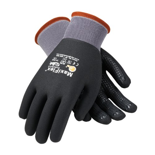 34-846 GTEK Maxiflex Ultimate Gloves w/ Dots - Large (DOZEN) by PIP (Image #1)