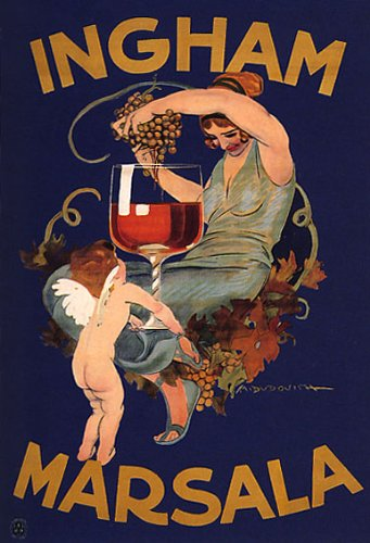 ingham-marsala-wine-woman-squeezing-grapes-angel-holding-cup-italy-16-x-24-image-size-vintage-poster