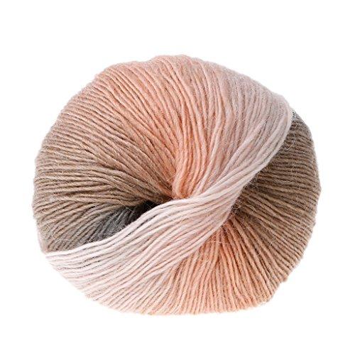 ShapeW Simply Soft Wool Blend Yarn Medium Worsted Gauge 100% Wool Blend - 5oz - Rainbow Yarn for Crocheting (017) ()