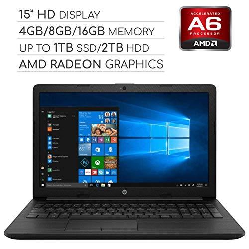 (HP Pavilion 2019 15.6 HD LED Laptop Notebook Computer PC, 2-Core AMD A6 2.6GHz/Intel Celeron 1.6GHz, 4GB/8GB RAM, up to 1TB SSD/2TB HDD, DVD, HDMI, RJ-45, USB 3.0, Bluetooth, Webcam, Wi-Fi, Windows 10 )