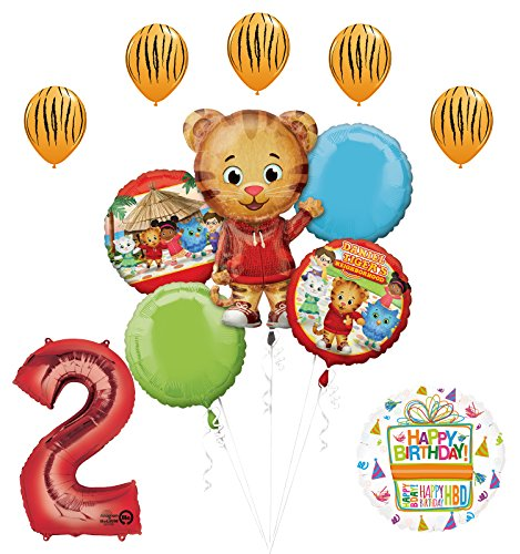 Mayflower Products The Ultimate Daniel Tiger Neighborhood 2nd Birthday Party Supplies and Balloon Decorations]()