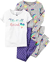 Carter\'s Baby Girls 4 Pc Cotton 331g224, Print, 18 Months Baby