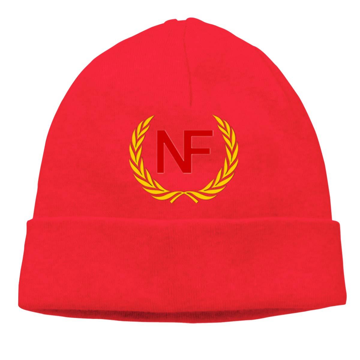 NF Flag Unisex Cuffed Plain Skull Knitted Hat Beanie Cap Men Women Black