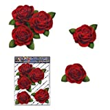RED ROSES FLOWER Small Pack Decal Vinyl Bumper Car Stickers - ST00066RD_SML