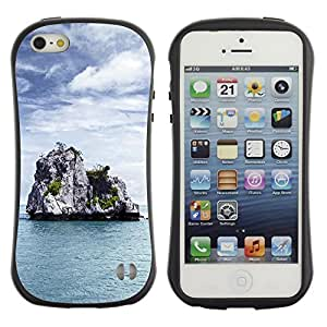 Pulsar iFace Series Tpu silicona Carcasa Funda Case para Apple iPhone 5 / iPhone 5S , Nature Lonely Castle Rock