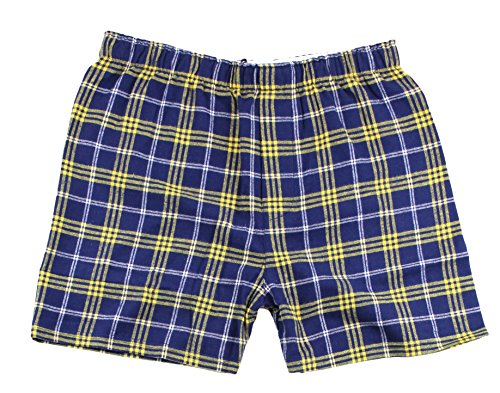 - boxercraft F48 Adult Classic Flannel Boxers - Navy/Gold - M
